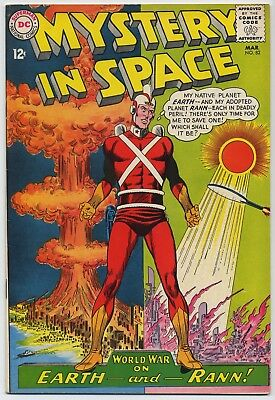 DC MYSTERY IN SPACE #82, ADAM STRANGE Infantino-Anderson Cover + Story, FN, 1963