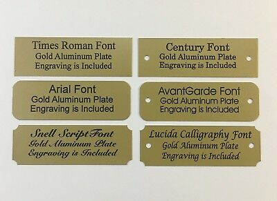 1x3 Laser Engraved Gold Aluminum Plate Custom Personalized Plaque Trophy-Sign