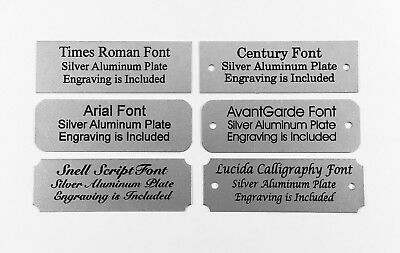 1x3 Laser Engraved Silver Aluminum Plate Custom Personalized Plaque Trophy Sign