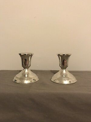 Pair of Vintage Duchin Creation Sterling Silver Candlesticks Weighted