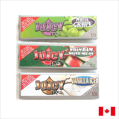 3 Pack Juicy Jay's SUPERFINE 1 1/4 Size Flavored Rolling Papers Bundle