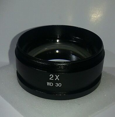 2X Barlow Lens for SM & SW Stereo Microscopes (48mm). 2X WD 30