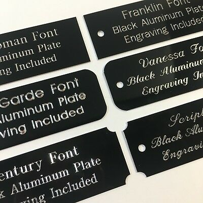 1x3  Engraved Solid Aluminum Brass Plate Custom Personalized Plaque Trophy Sign