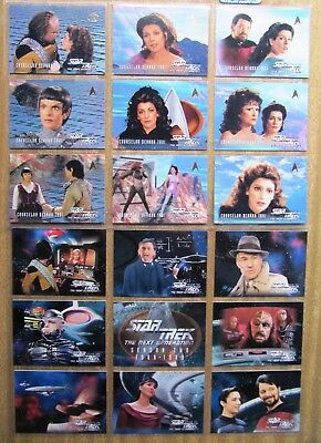 1995 Skybox  Star Trek Cards:  THE NEXT GENERATION  (Full Set) + Free Post