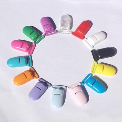 10pc Random Color Infant Baby Feeding Holder Pacifier Clips Soother Nipple Clamp