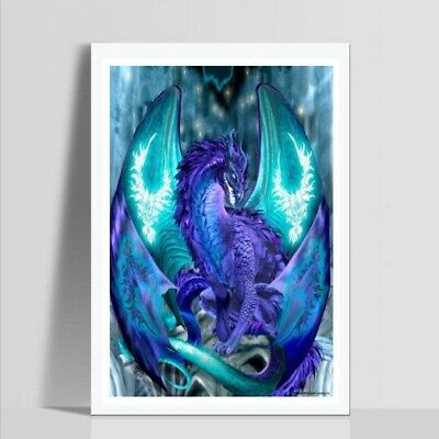 AU Blue Dragon Full Drill 5D Diamond Painting Embroidery Cross Stitch Kit LE