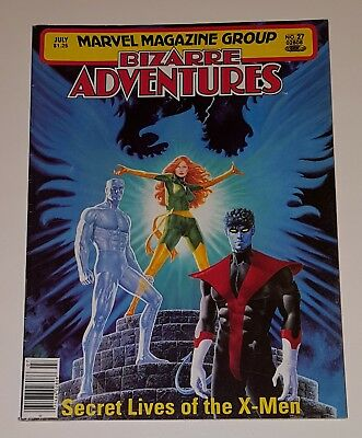 Bizarre Adventures #27 ( Secret Lives of the X-Men) Marvel Magazine Group  Fine