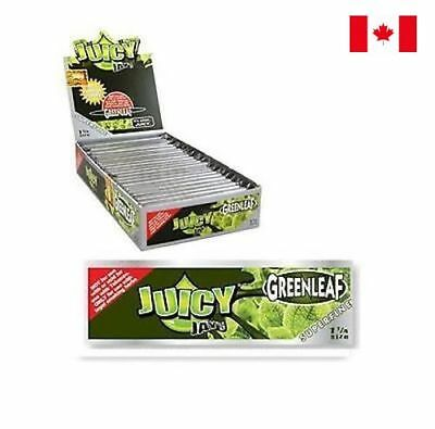 3 Pack Juicy Jay's SUPERFINE 1 1/4 Greenleaf Flavored Rolling Papers