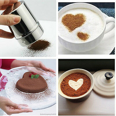 1x Stainless Steel Chocolate Shaker Cocoa Flour Icing Sugar Powder Coffee Sifter
