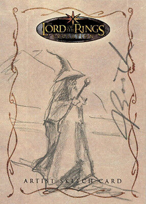 The Lord of the Rings Evolution Sketch Card - Joseph Booth - Gandalf the Grey