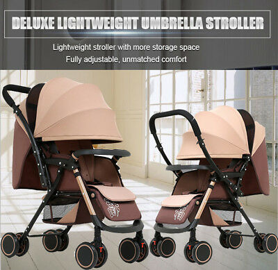 Fold Lightweight Compact Baby Stroller Nrwborn Prams Pushchair Travel Carry On