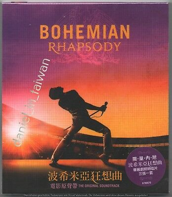 Queen Bohemian Rhapsody Soundtrack 2018 TAIWAN CD w/ SLIPCOVER & 3 PROMO CARDS