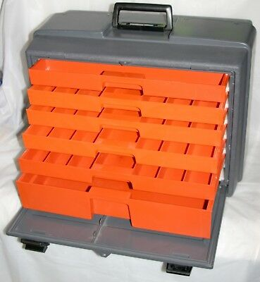 """VTG Flambeau 22060 19"""" x 15"""" x 10"""" Pro Front Load 6 Tray Tackle Tool Chest Box"""