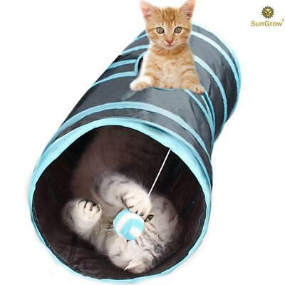 Collapsible Cat Tunnel: Interactive Play Toy, for Pets Hiding, Hunting & Resting
