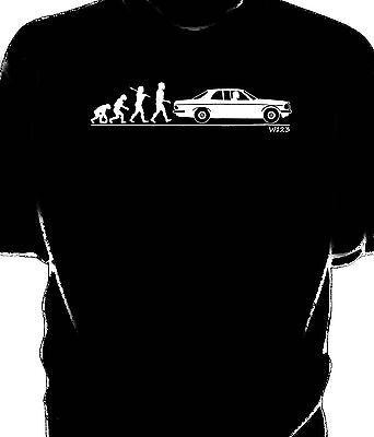 Evolution of Man,Classic  W123 coupe t-shirt