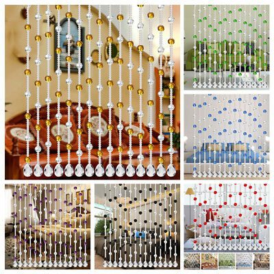 One String Crystal Glass Bead 1 Meter Window String Curtain Bedroom Partition