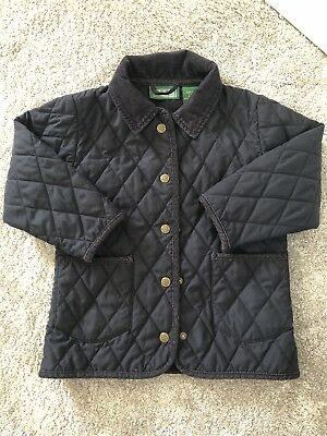 LL Bean Girls Quilted Coat Age S 4