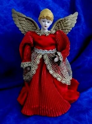 Vintage Christmas Angel Porcelain Head And Hands Approx 23Cm High To Top Of Wing