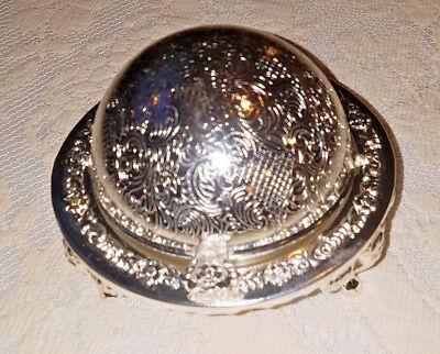 Silver Plated Queen Anne Covered Dome Butter Dish