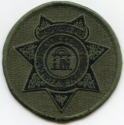 FULTON COUNTY GEORGIA GA round subdued green SHERIFF POLICE PATCH