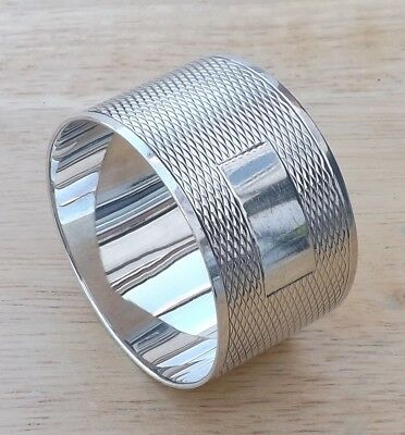 Antique Sheffield 1935 Solid Sterling Silver Napkin Ring