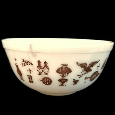 Pyrex Early American 2 1/2 Qt Mixing Bowl #403 Vintage Ovenware Made in the USA