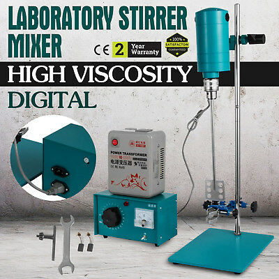 Electric Digital Overhead  Lab Stirrer Mixer Research LABORATORY High Viscosity