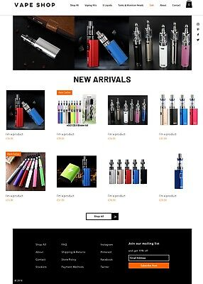 Vape/CigaretteBusiness for sale   Website &Suppliers   No Stock Needed