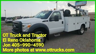 2011 Ford F-450 F450 6.8L 4wd Gas 3200lb Crane 11ft Service Utility Bed Truck