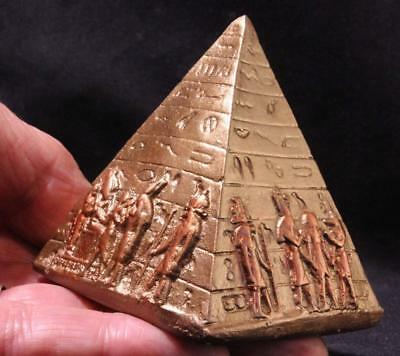 EGYPTIAN PYRAMID of the Ancient Gods stone statue