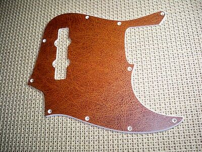 Vintage Leather Style Pickguard For Usa/mex Fender 4 String Standard Jazz Bass
