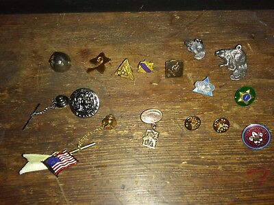 MIXED LOT OF BOY Scout pins Silver beaver awards vintage bell & button