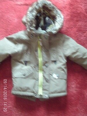 Next boys hooded green parka age 12-18 months good condition