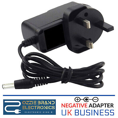 AC/DC 9V 1A Switching Power Supply Adapter Reverse Polarity Negative Inside UK