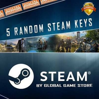 5 x Random Steam Keys Key Game GAMES UP TO £59.99 REGION FREE