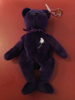 "(1) Ty Beanie Babies Bean Bag Plush ""Princess The Bear"""