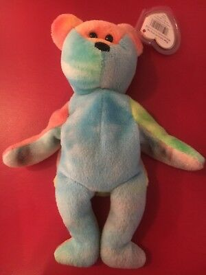 "(1) Ty Beanie Babies Bean Bag Plush "" Garcia The Bear"""