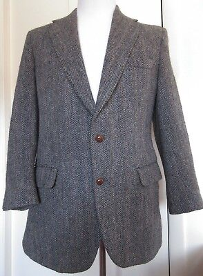 965a712c4721 FINE MENS HARRIS Tweed gray herringbone blazer size 40 S -  16.00 ...