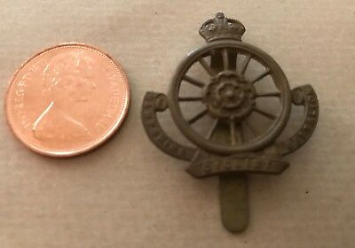 British WW1 Original Brass Cap Badge Hampshire Cyclist Battalion