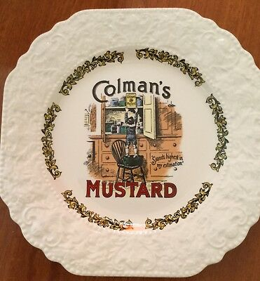 Vintage Lord Nelson Ware Victorian Advertising Plate - Colman's Mustard