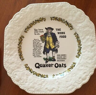 Quaker Oats Victorian Advertising Plate Lord Nelson Vintage Pottery