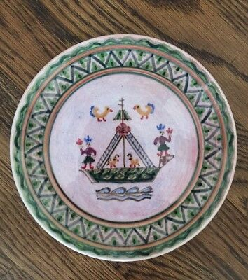Vtg Collector Plate Hand Painted Pottery Greek Athens Greece KERAMIKOS