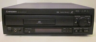 Mitsubishi M-V7057 Laserdisc A B 2 Side Player Black No Remote Tested