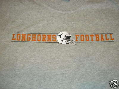 Texas Long Horns Football Mens Tshirt  - Large