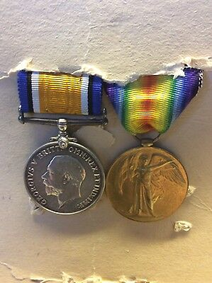 World War One War & Victory Medals Royal Sussex Regiment.