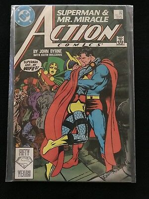 ACTION COMICS #593 (DC 1987) Superman Kisses Mr Miracle's Wife~John Byrne! NM