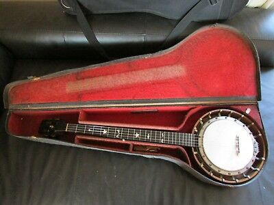 VINTAGE c1900 THOMAS BOSTOCK 5 STRING BANJO. NEW HEAD, RE-STRING & PRO SETUP