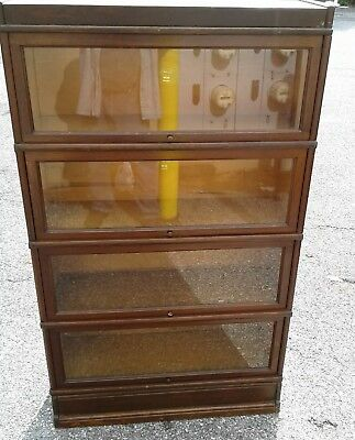 Antique Barrister Stacked Bookcase With Glass Doors 47900 Picclick