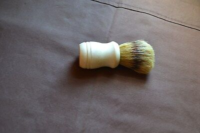 Vintage Badger Hair Shaving Brush Cream Colored Handle Very Nice Condition