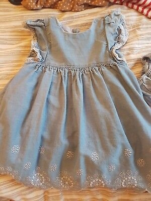 12-18 Months Denim Girls Dress Mothercare Matching Knickers Outfit Petticoat